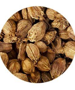 Cardamome graines noires épices en vrac