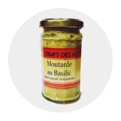 Moutarde Basilic Temps des Mets Comptoir
