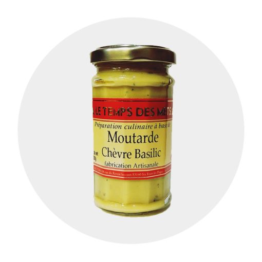 Moutarde Chèvre Basilic Temps des Mets Comptoir