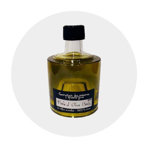 Huile d'olive Basilic empilable Comptoir Arômes