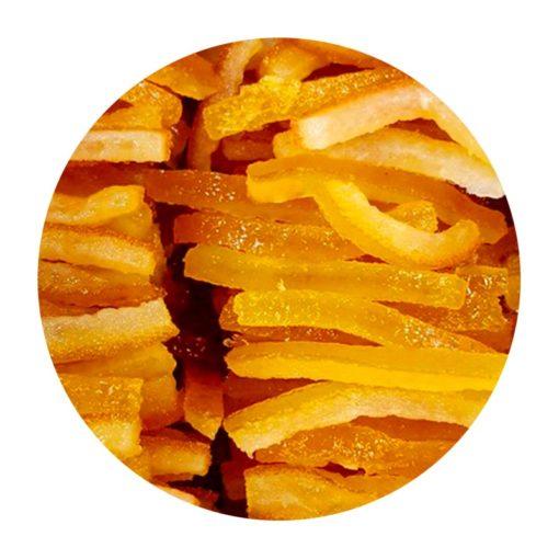 Aiguillettes d'orange confites en vrac Comptoir Arômes