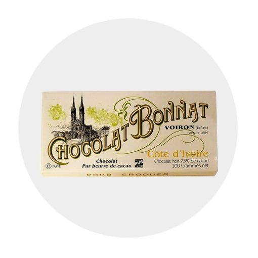 Chocolat Noir Bonnat Côte d'Ivoire 75 %