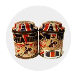 Boite à thé motif anglais Comptoir des Arômes