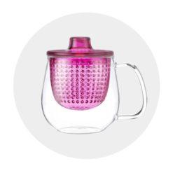 Mug Pop Rose tisanière moderne Comptoir Arômes