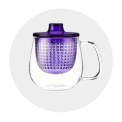 Mug Pop Mauve tisanière moderne Comptoir Arômes