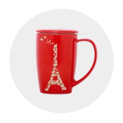 Mug céramique rouge Comptoir des Arômes