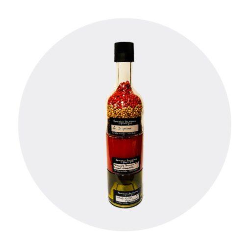 vinaigre Poivron huile thym romarin moulin 3 poivres