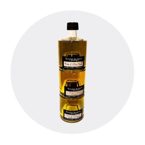 Huiles d'olive basilic, cèpes, herbes de provence